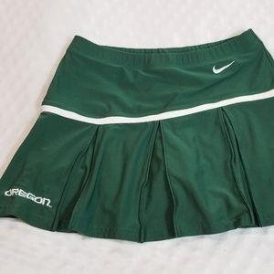 Green Oregon NikeTennis/Cheerleading Skirt XS